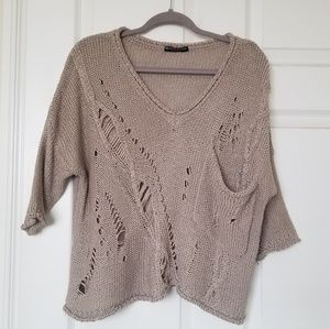 Brandy Melville brown knit sweater
